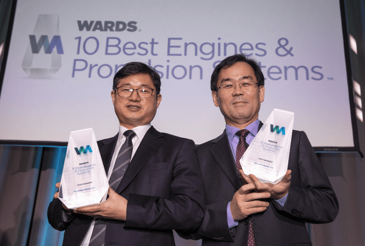 Hyundai Awarded Two Engine Honors - Wards 10 Best Engines & Propulsion Systems Competition