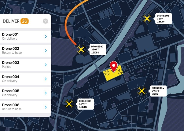 Management tools for drone fleet tracking