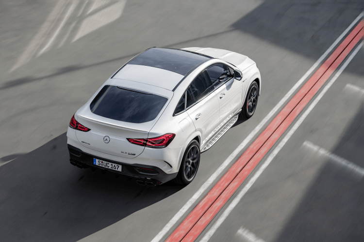 The New Elegant and Electrified Mercedes AMG GLE 63 S Coupe top-rear