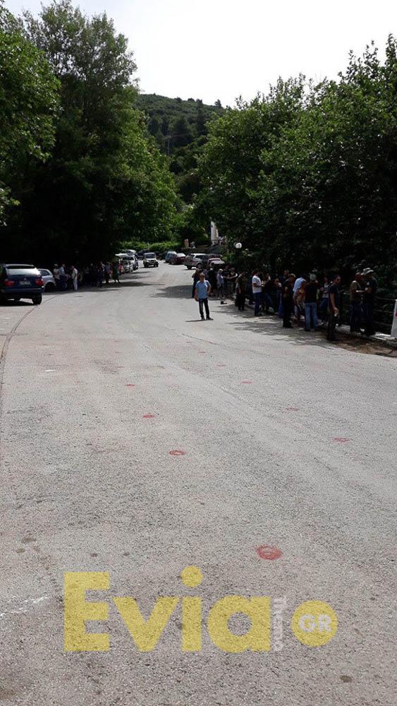 Στενή Ευβοίας: Διαμαρτυρία αυτήν την ώρα για τις ανεμογεννήτριες