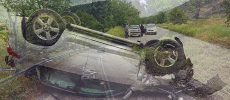 Εύβοια: Τροχαίο με ανατροπή αυτοκινήτου την Κυριακή το βράδυ