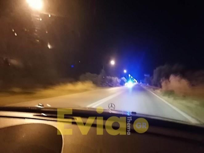 Νέα Αρτάκη: Τροχαίο στα Δύο Βουνά το βράδυ