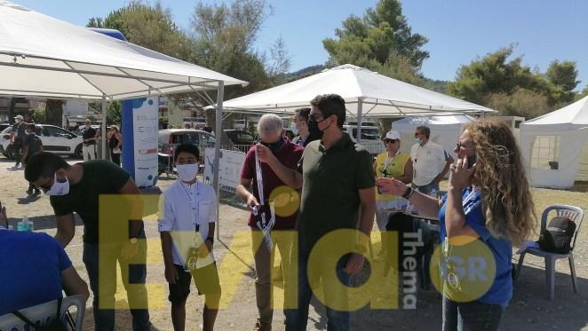 Ο Λευτέρης Αυγενάκης και η Άντελα Γκερέκου στο Πευκί