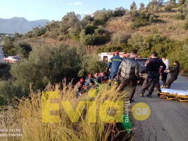 Τροχαίο σημειώθηκε λίγο μετά τις 4 το απόγευμα της Τρίτης σε δρόμο στην Πάνω Βάθεια κοντά στην Ερέτρια Ευβοίας.
