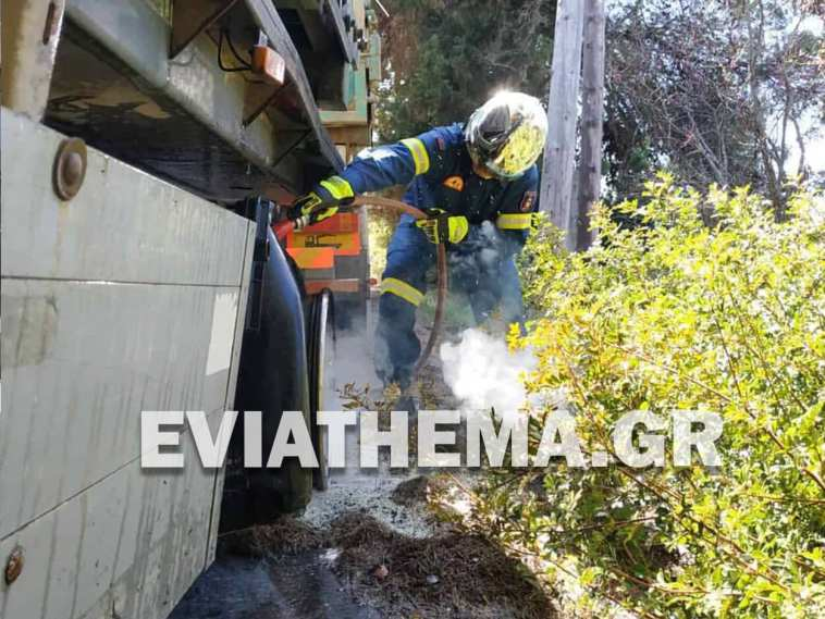 Πεθαμένος Φωτιά σε Φορτηγό