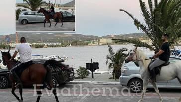 Αλιβέρι άλογα βόλτα Κάραβο