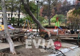 εκκένωση χωριών στη Βόρεια Εύβοια