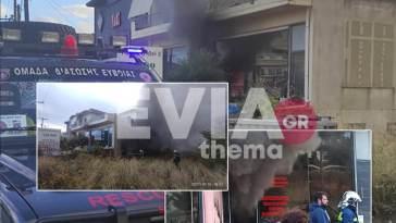 φωτιά σε κατάστημα στο Αλιβέρι