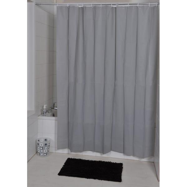 solid eva bathroom shower curtain grey