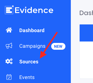 Log in to Evidence and click Sources. WP Fluent Forms