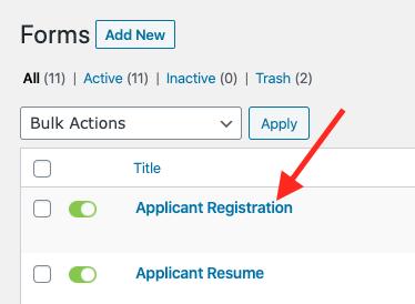 Applicant Registration.