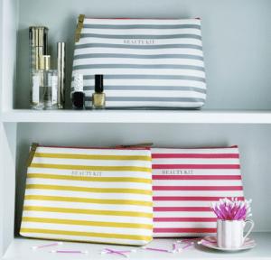 Stripe wash bag