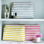 Stripe wash bag