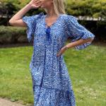 Blue zebra dress