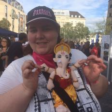 adults join in the fun with Famous People (and Hindu gods) dolls, Fest der Kulturen, Bonn, May 2017
