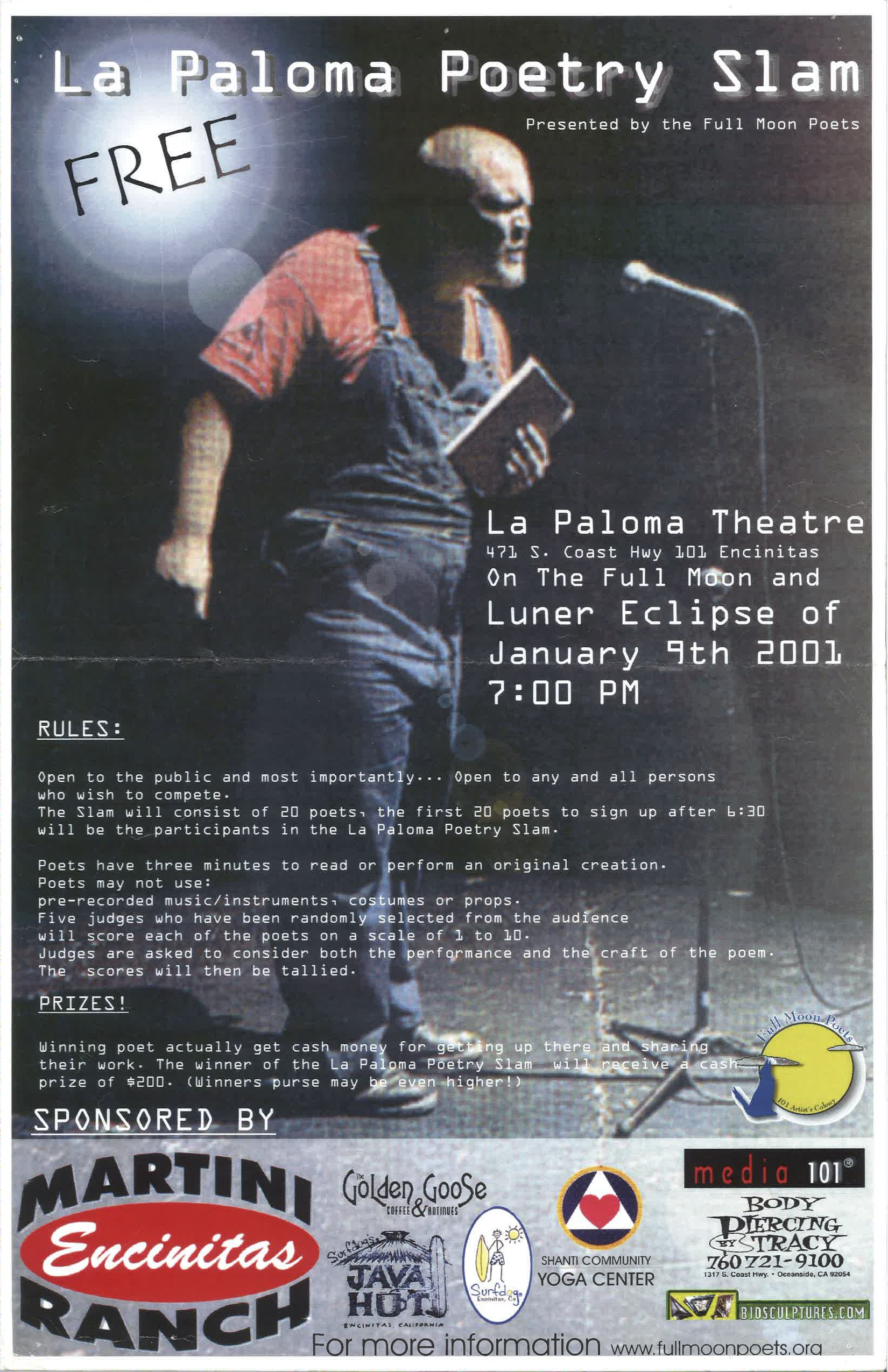 2001 Slam Poetry Competition