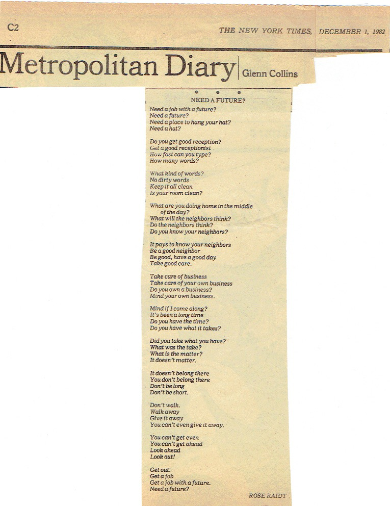 Poem in the NYT