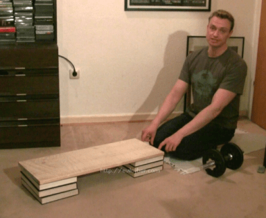 A board used for hamstring curls