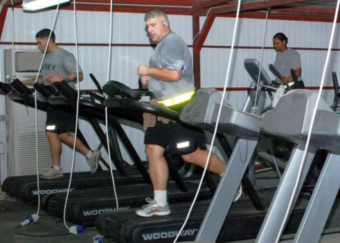 Men on treadmills