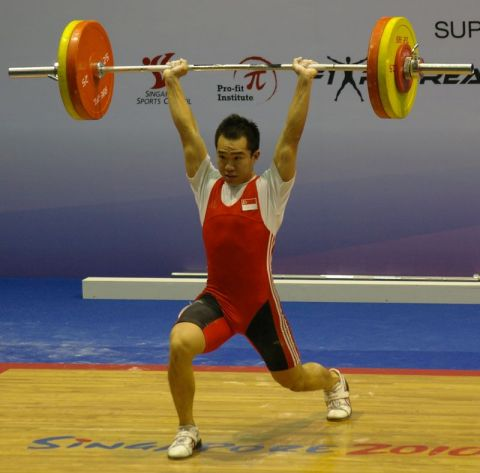 Man weightlifting with barbell