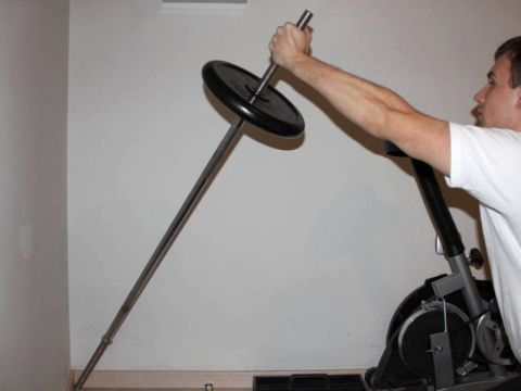 The cornerbell front press exercise
