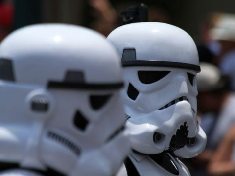 Two Star Wars storm troopers