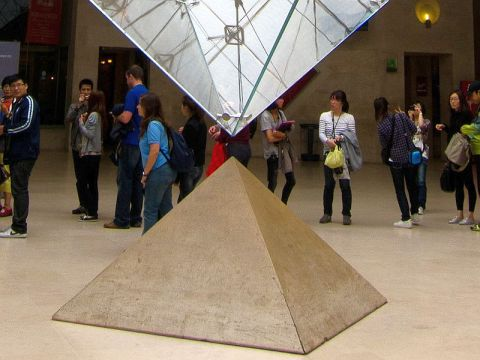 Pyramid and reverse pyramid at Louvre.