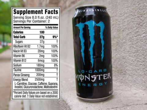 monster energy drink nutrition facts
