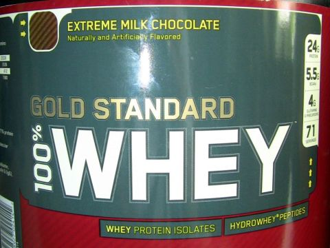 old tub of optimum nutrition whey