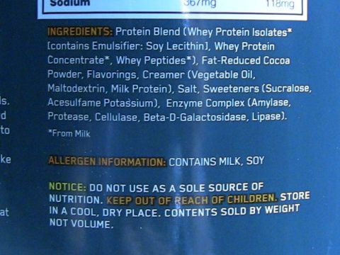 old on whey ingredient list