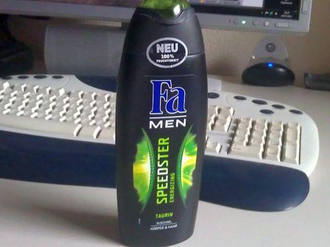 bottle of fa taurine shower gel
