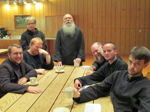 Prior Aelred and fellow monks at St. Gregory's.