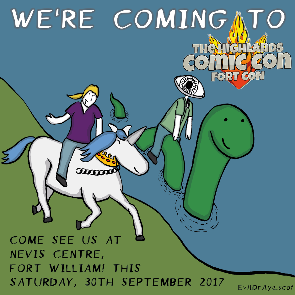 We're coming to FortCon – The Highlands Comic Con