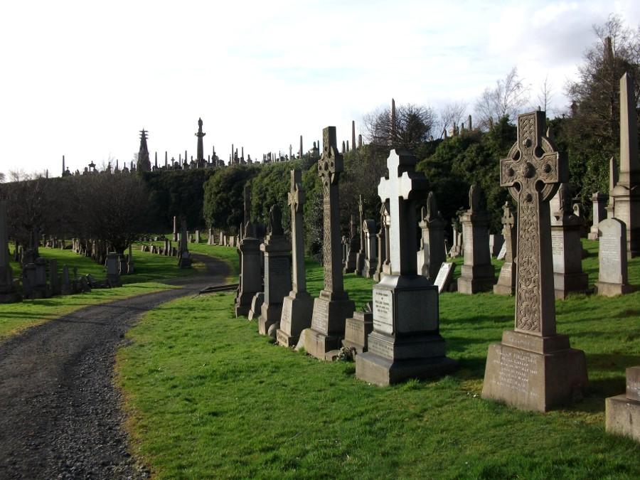 Un jour d'automne à la Nécropole de Glasgow