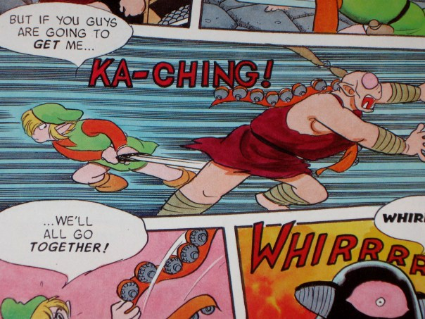 Here's an innuendo free panel where Link chops his one-eyed monster in half.