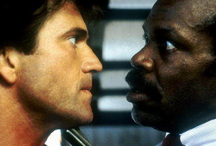 Riggs and Murtaugh Face To Face