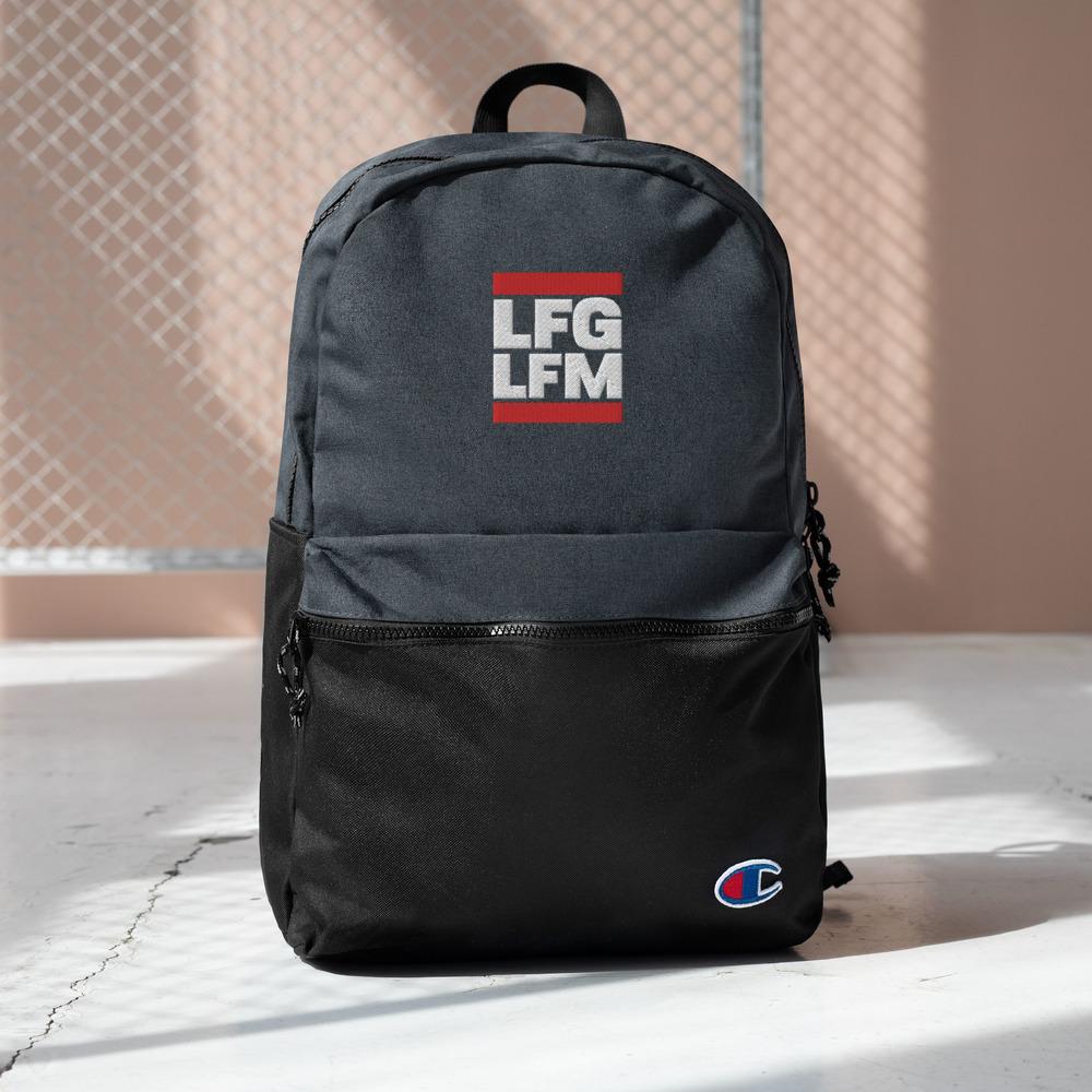 LFG / LFM <br>Embroidered Champion Backpack