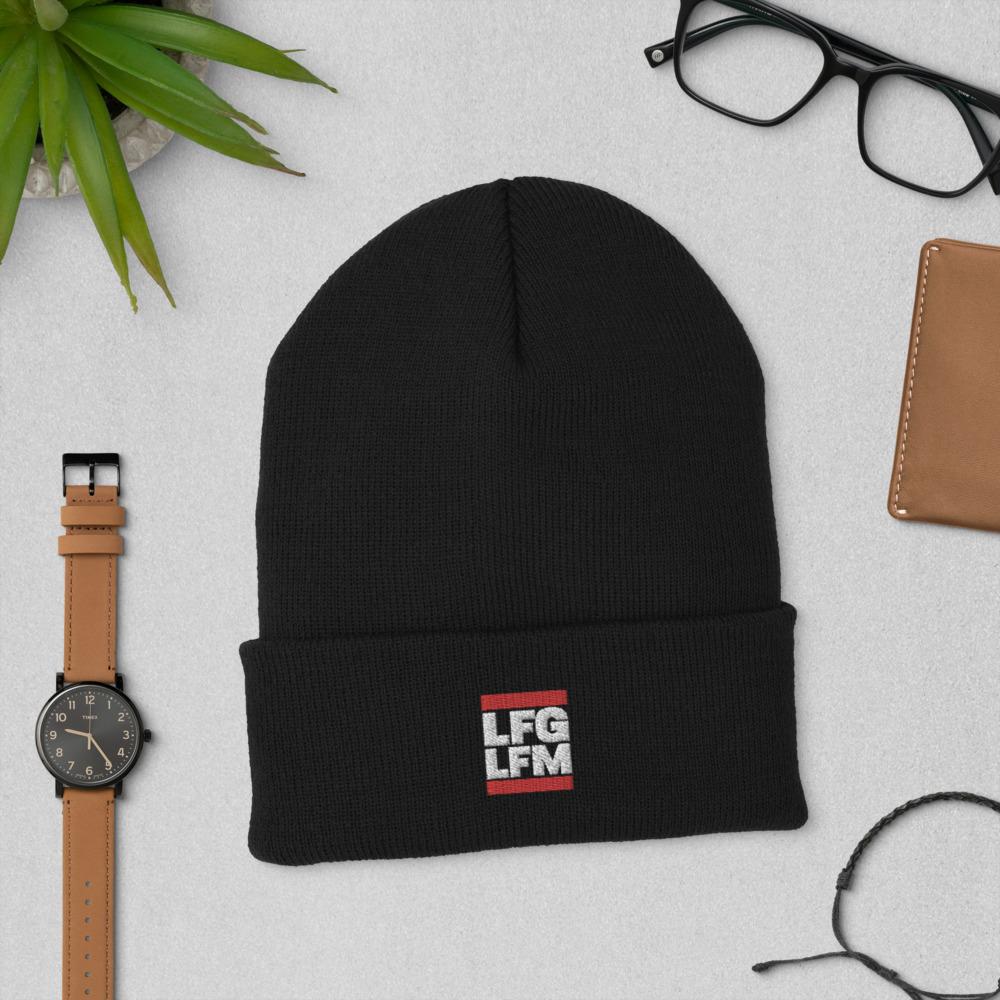 LFG / LFM <br>Embroidered<br>Cuffed Beanie