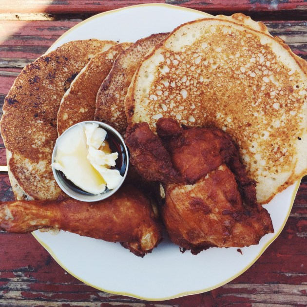 Fried Chicken and Pancakes