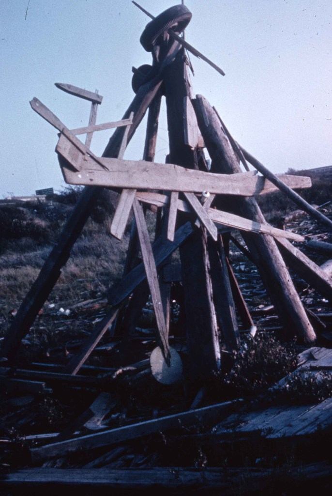 Early Mudflat Sculpture, 1965. Courtesy of The California College of Art