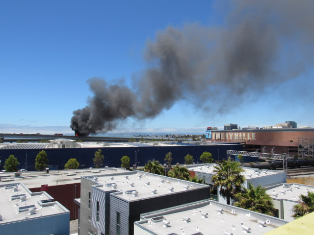 Semi Explosion followed by fire on Eastbound I-80 Exchange - The E