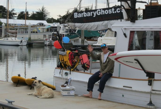 Barbary Ghost operates from the fishing dock.