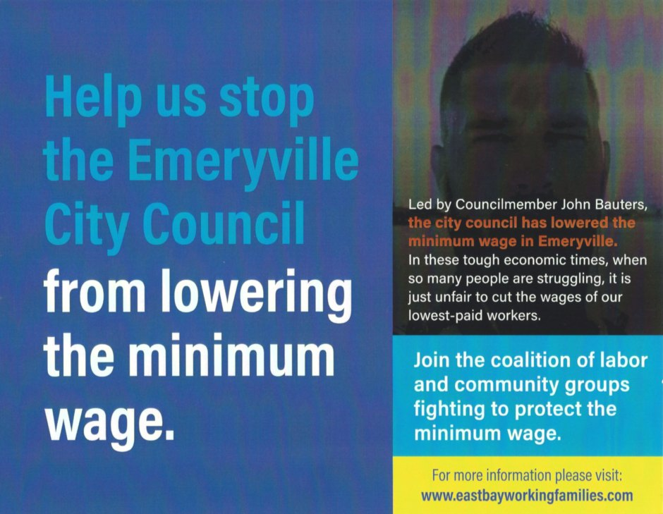 Minimum Wage Referendum Petition Pitting Emeryville Small