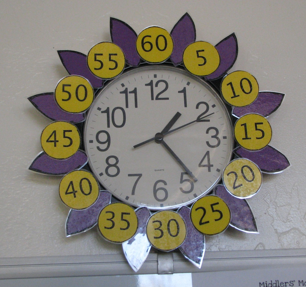 Flower Clock To Help Tell Time Evil Math Wizard