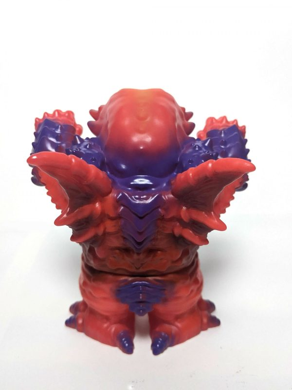a red and purple cthulhu soft vinyl toy