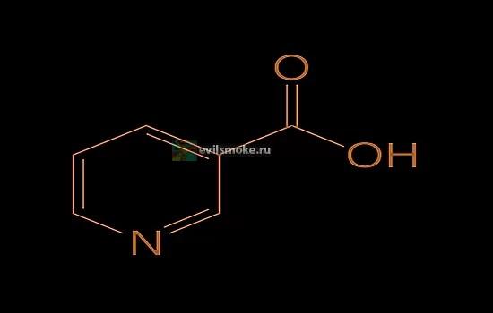 Фото - формула никотиновой кислоты