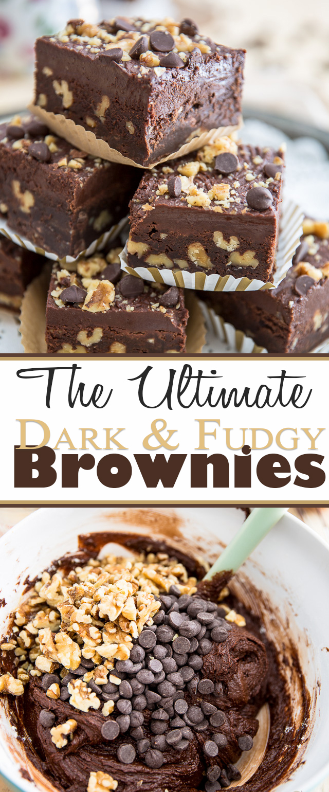 Ultimate Dark Fudgy Brownies | eviltwin.kitchen