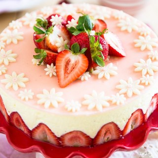 Classic Fraisier Cake