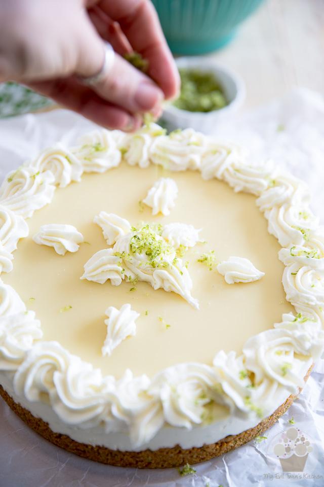 Lime and white chocolate cake