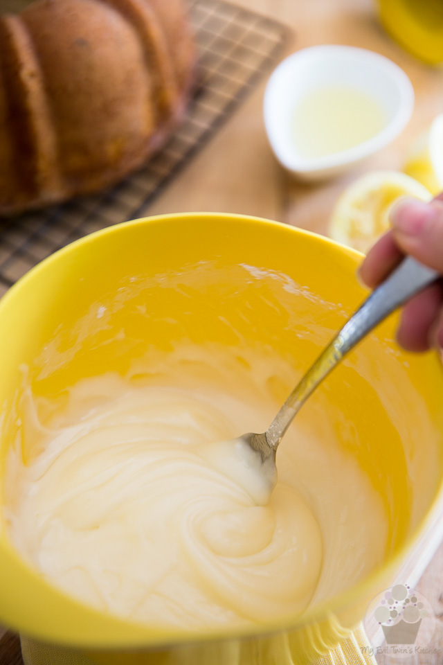 Making the icing - Lemon Cream Cheese Bundt Cake step-by-step instructions
